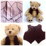 A waistcoat for Nonno bear (a Build-a-Bear pattern)