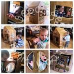 Craft ideas for kids: Cardboard Box Play House