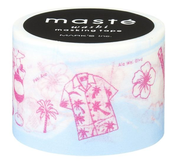 honolulu map washi tape