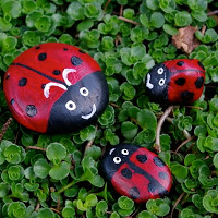 Painted Stone Ladybirds