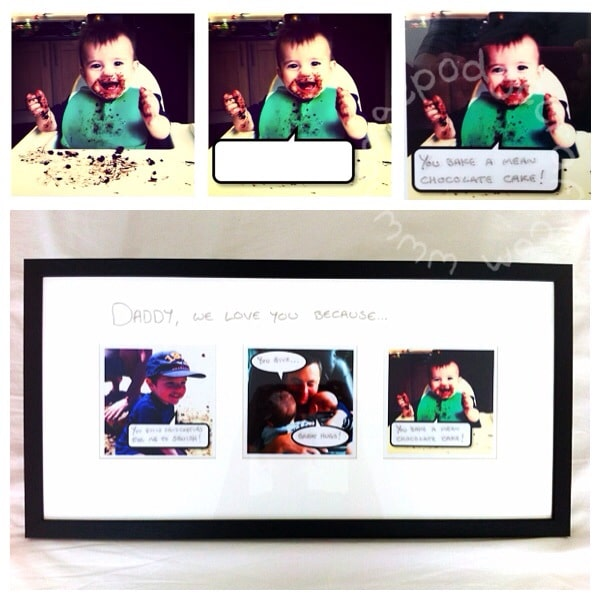 speech bubble photo gift for Daddy