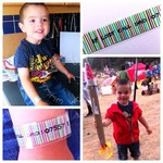 Washi tape wristband: festival ID for kids