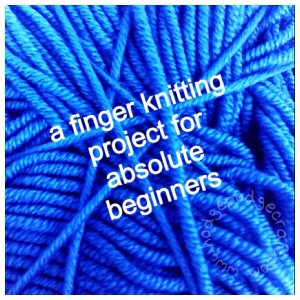 Finger-knit greeting card (guest post at Monster Yarns)