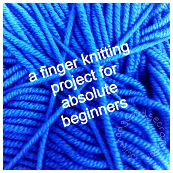 finger knitting project for beginners