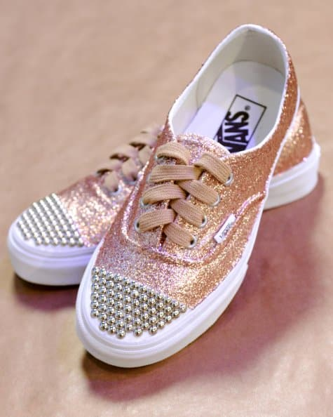 glittered sneakers how to