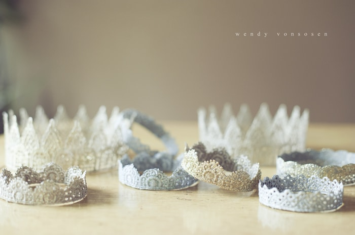 lace glitter crowns