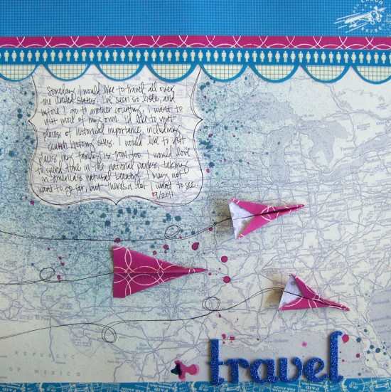 scrapbook travel journal page