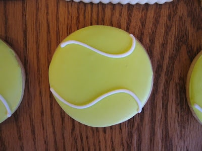 tennis ball cookies