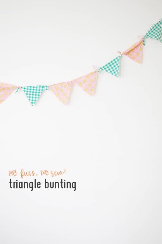 tie no fuss bunting