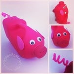 Craft ideas for kids: No spill pig watering can