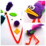 Craft ideas for kids: Funky pompom bird