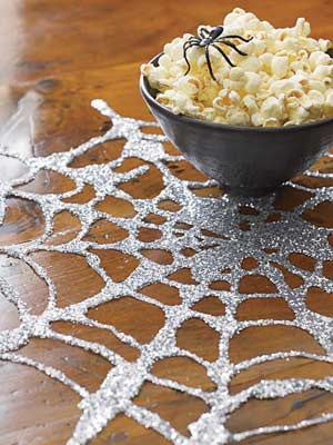 glitter web table mat