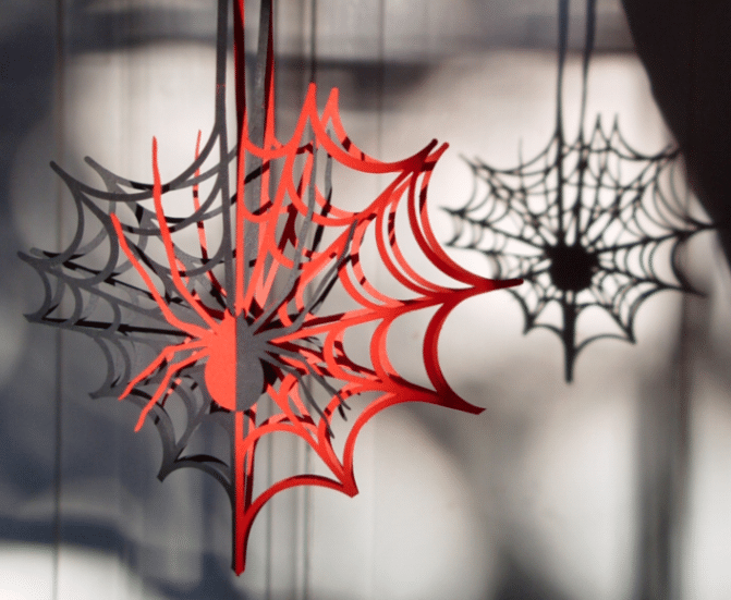joined paper spiderweb