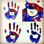 Craft ideas for kids: hand prints with paint