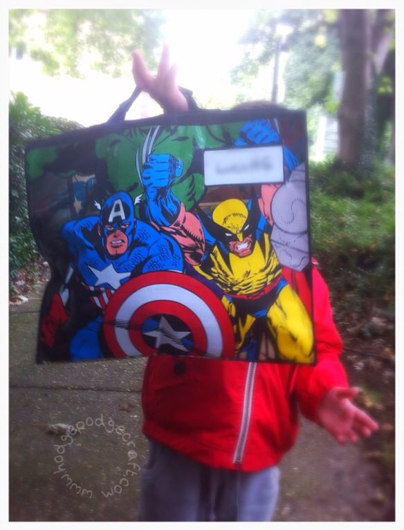superhero bag hero shot