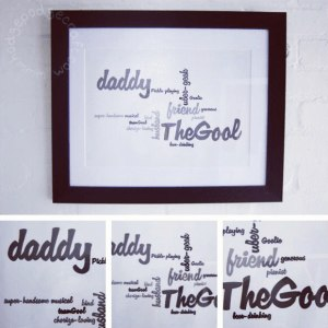 Fathers day DIY gift: easy framed word cloud