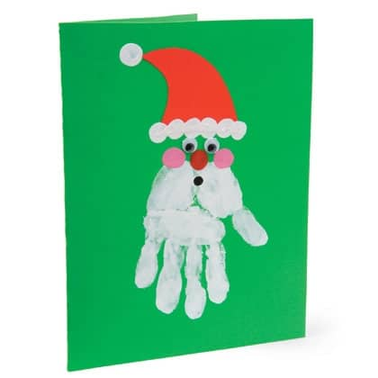 handprint santa christmas card