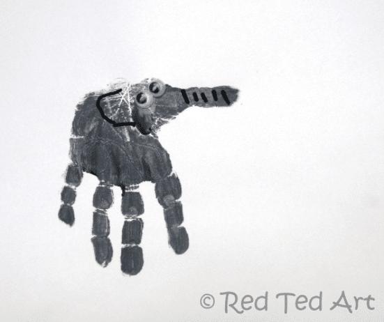 handprint elephant E