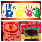 Inspired crafting: canvas painting & hand-printing