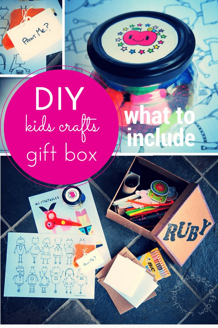 DIY kids crafts gift box for a preschooler