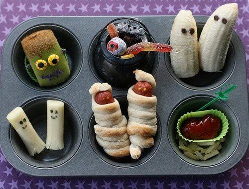 HOME ECONOMICS halloween-lunch-in-muffin-tin