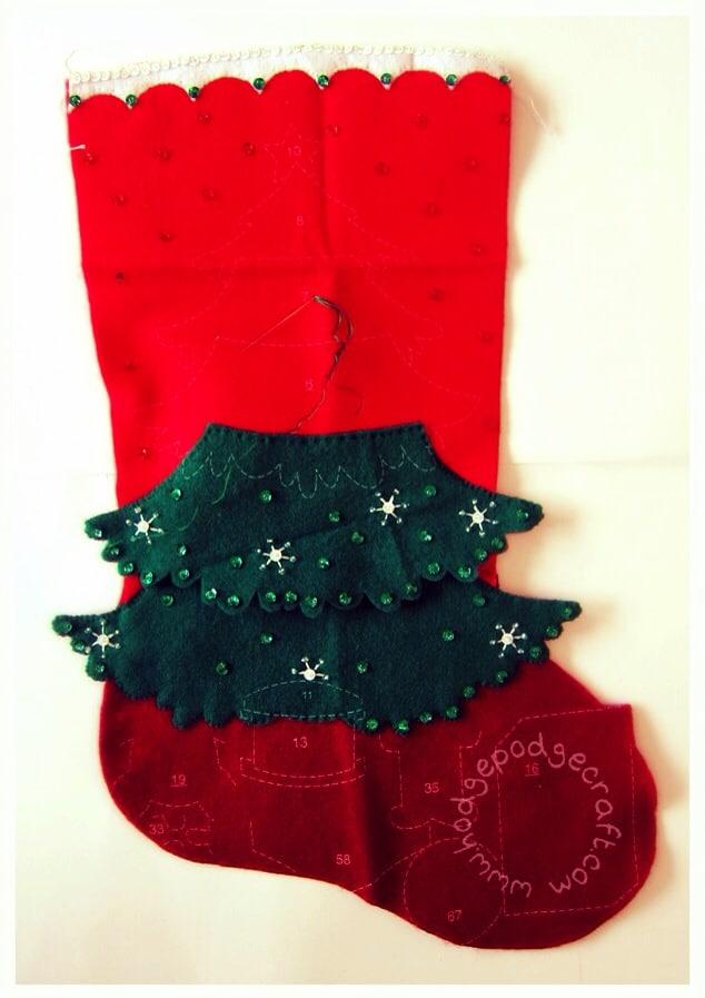 Felt applique stocking 1