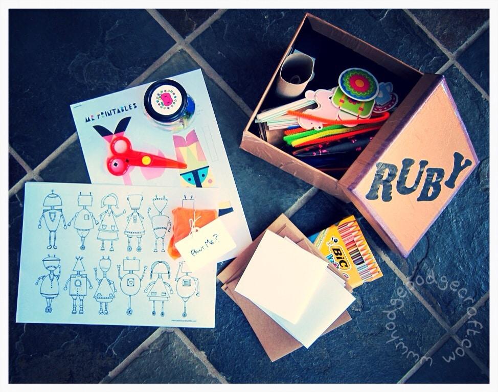 DIY toddler craft box kit how-to