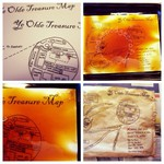 How to make aged pirate party invites or an authentic treasure map!