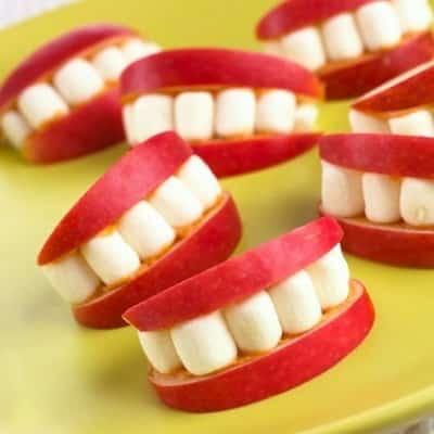 apple & marshmallow smiles