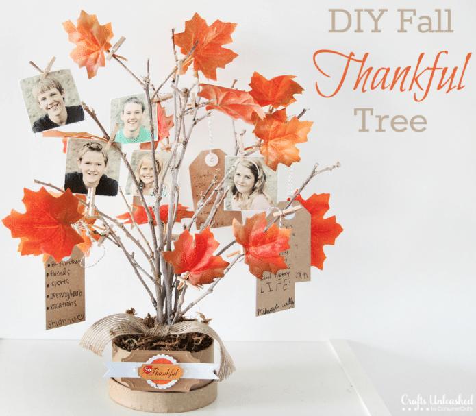 DIY Fall Thankful tree