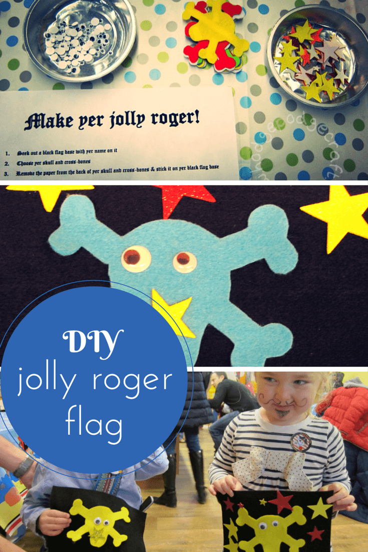 No-mess DIY jolly roger flag craft