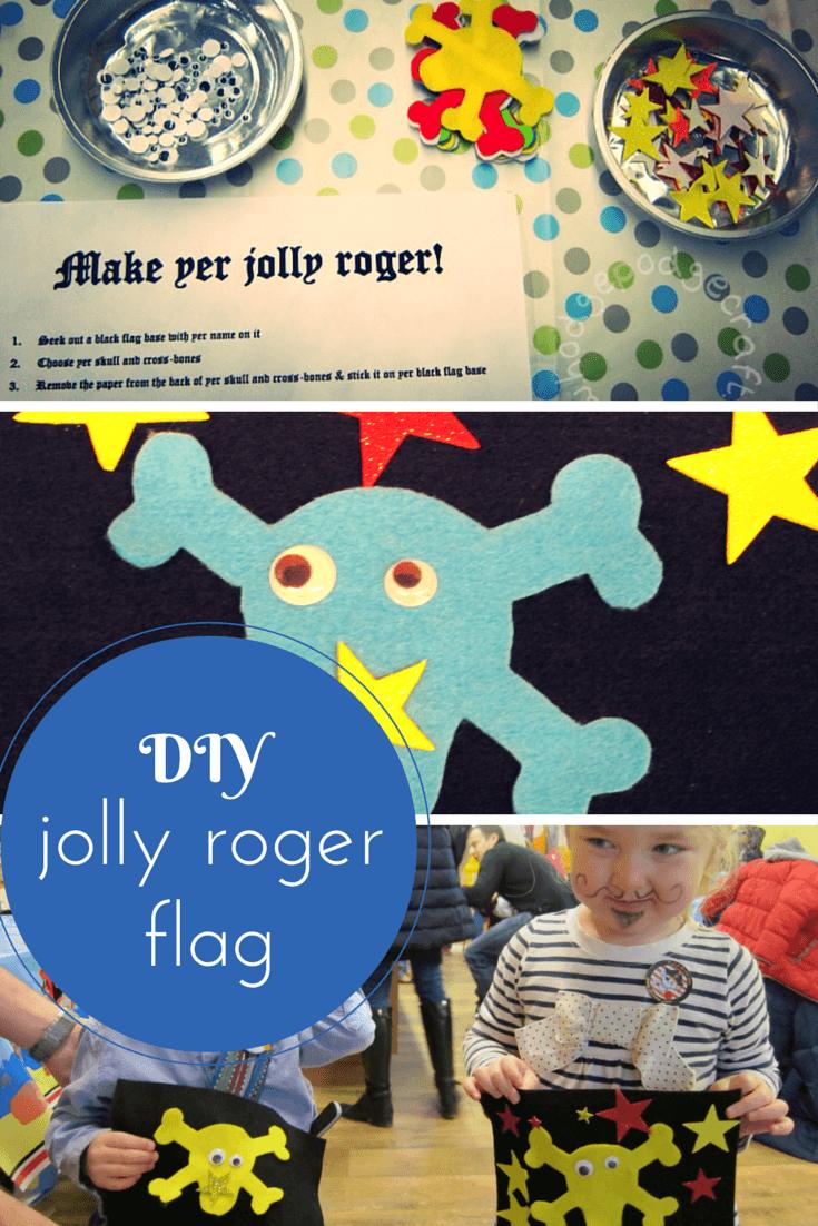 No-mess DIY jolly roger flag craft