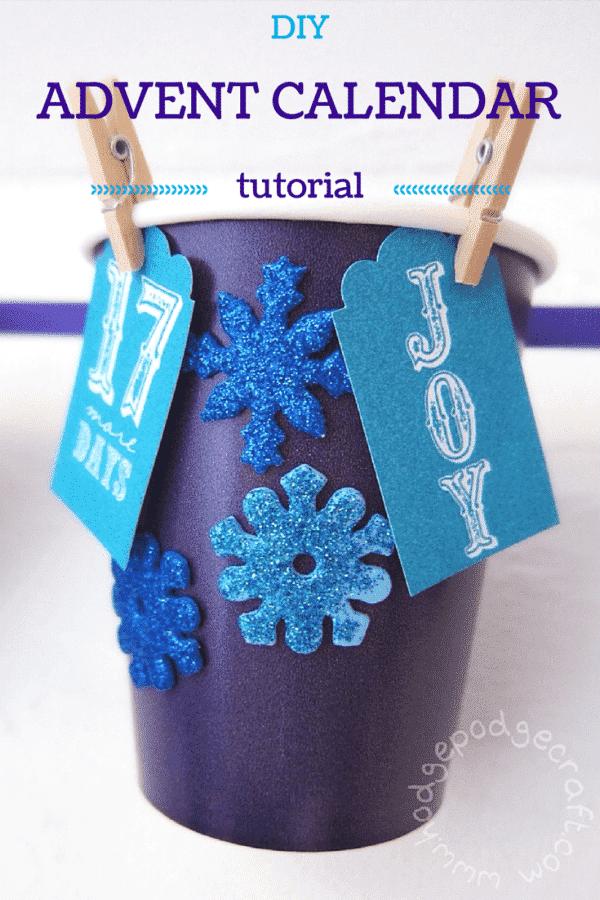 DIY paper cup advent calendar PIN