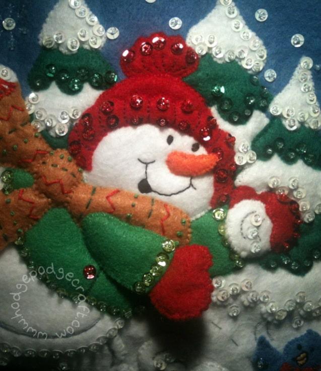 Homemade felt stocking