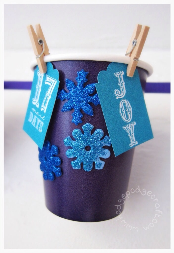 DIY paper cup advent calendar tutorial