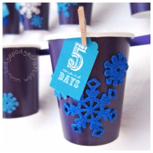 DIY paper cup advent calendar (made by toddlers)!