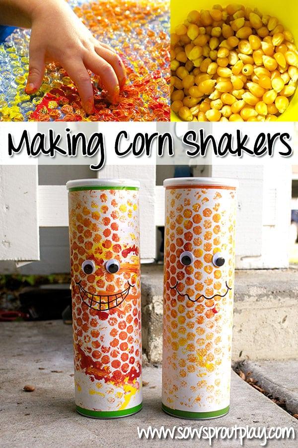 corn shaker music craft