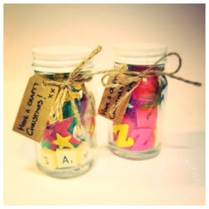Mini Christmas craft jar gifts for kids