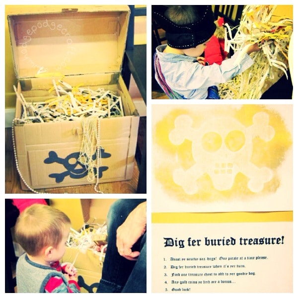 Pirate party activities - digging for treasure