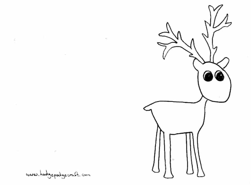 pompom reindeer christmas cards print out your cards using this
