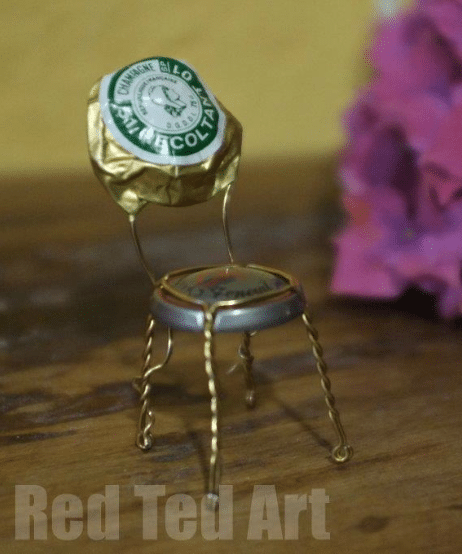 champagne cork mini chair