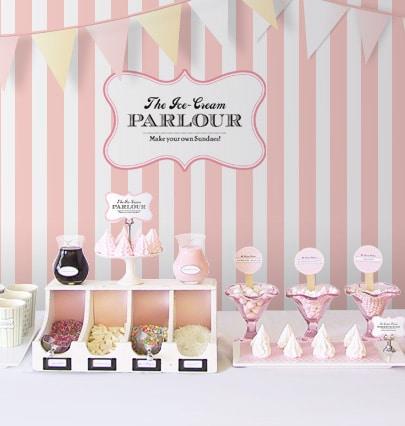 DIY ice cream sundae parlour