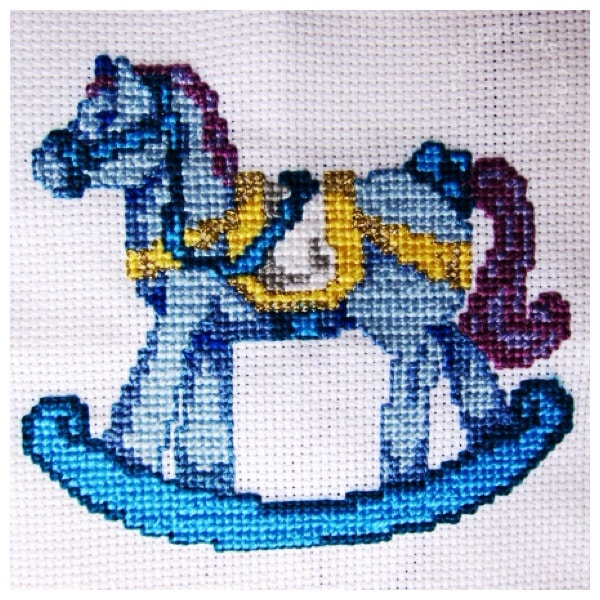 Cross stitch rocking horse