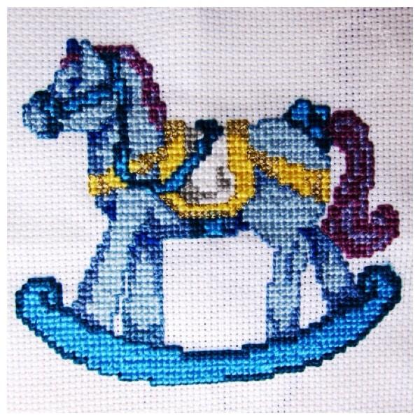 Cross stitch rocking horse