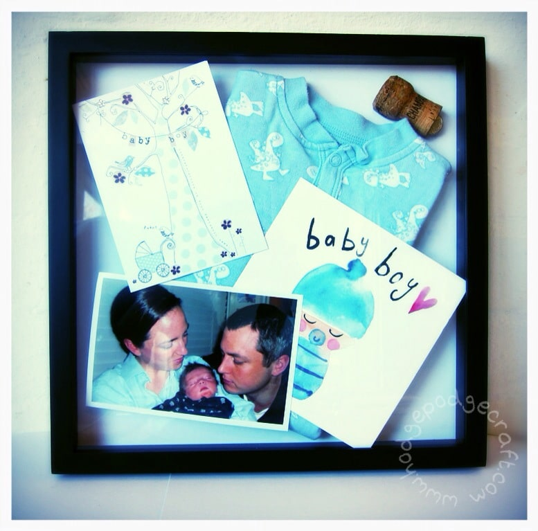 Baby shadow keepsake box 1
