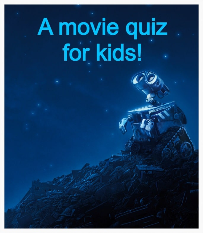A movie quiz for kids