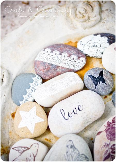 Valentine pebbles