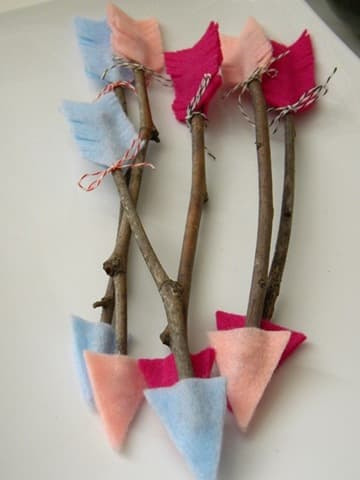 felt twig arrows