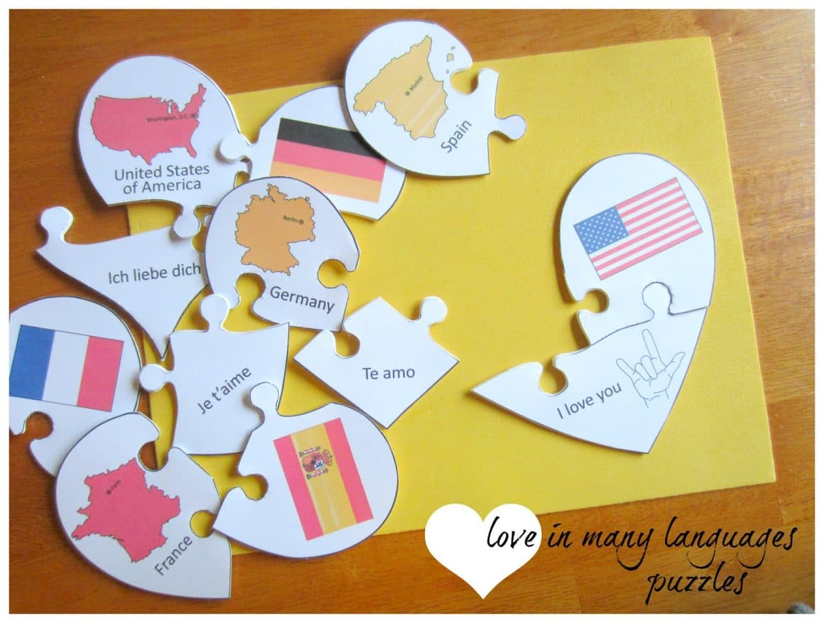 love languages puzzle free printable