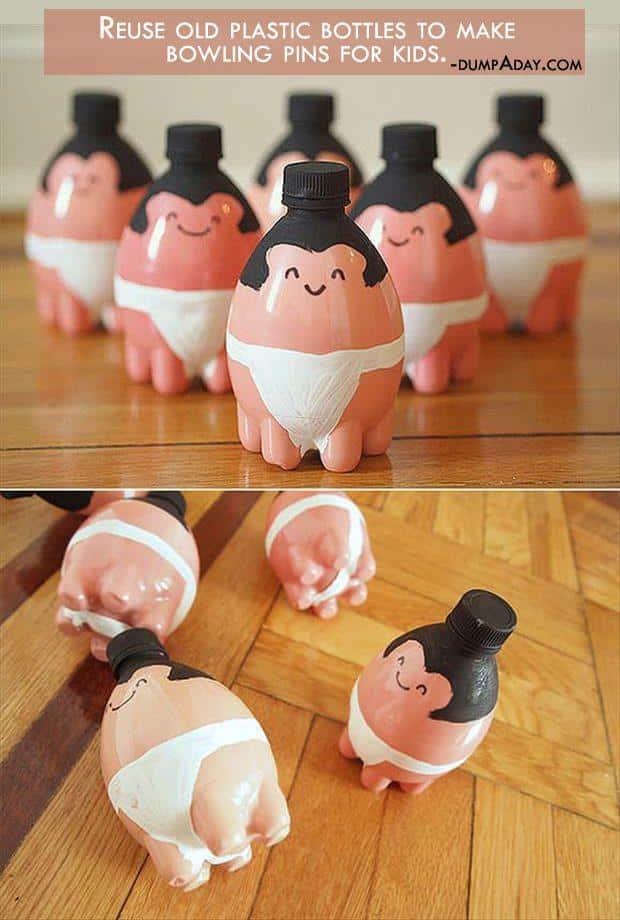 sumo bottle pin bowling